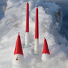 Swedish Tomte Cone Candles