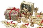 Basket of 48 Straw Ornaments