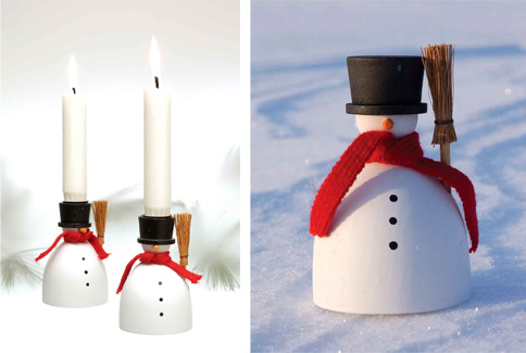 Decorative Christmas Taper Candles