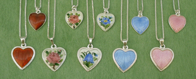 Norwegian Sterling and Enamel Jewelry
