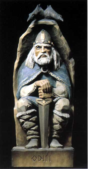 Viking Odin, Henning Wood Carving