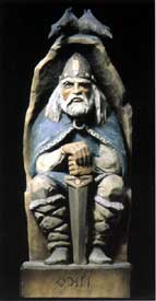 Henning Viking Odin Wood Carving