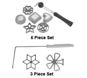 Rosette & Timbale, 6 piece set